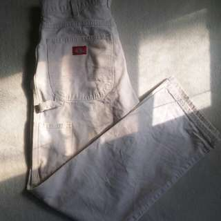 UO x Dickies white Carpenter Pants