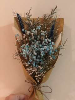 Dried Blue Baby Breath Bouquet