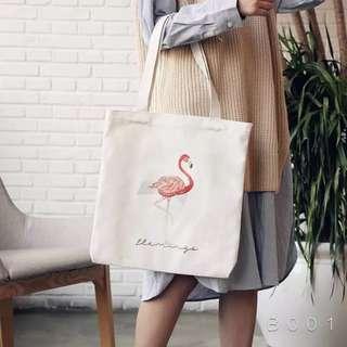 Flamingo Canvas Tote Bag