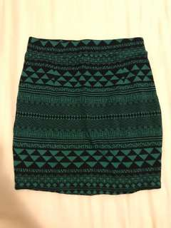 Geometric Bodycon Skirt