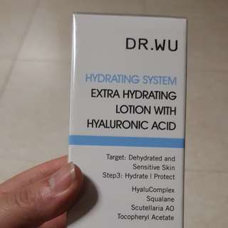 DR. WU Extra hydrating lotion W Hyaluronic Acid 玻尿酸