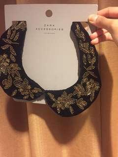 ZARA Collar Black & Gold