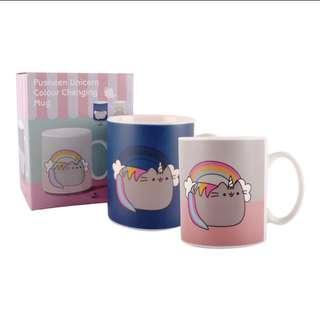 Pre order unicorn pusheen color changing mug