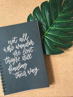 Handwritten Calligraphy Notebooks