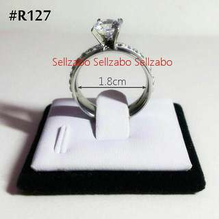 Silver Girly Diamante Rings Colours Sellzabo Accessories Stainless Steel Girls Ladies Women Female Lady 1.8cm #R127