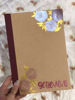 Hand Painted Floral Notebook * Customisation Available!*