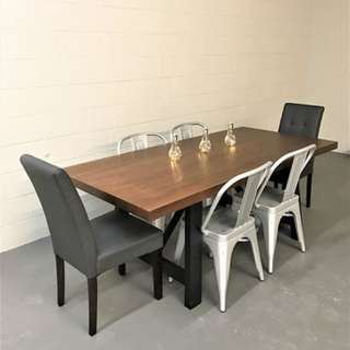 SALE BRAND NEW WOOD METAL DINING TABLE