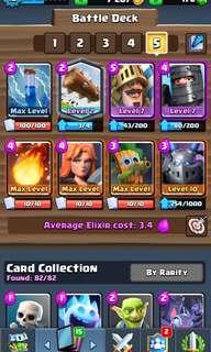 Level 12 clash royale account