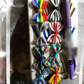 mini cute ribbons brooches 5pcs for $2.50