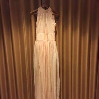 Prom long dress peach