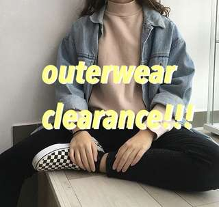 ULZZANG OUTERWEAR CLEARANCE