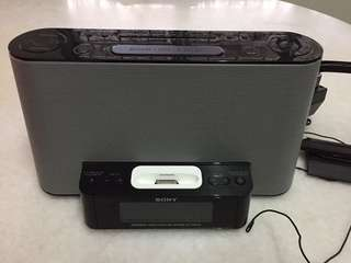 SONY PERSONAL AUDIO IPHONE iPOD DOCKING SYSTEM ICF-DS11iP