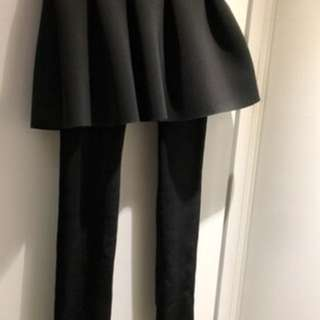 兩件式彈力內搭褲,「加絨加厚」腳踩褲,緊身褲(灰色)全新