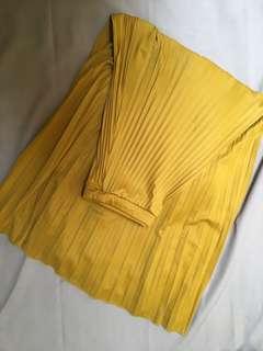 Rok plisket warna mustard