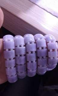 天然翡翠A貨紫羅蘭手鏈