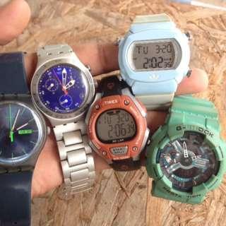 Swatch gshock adidas timex orihhh