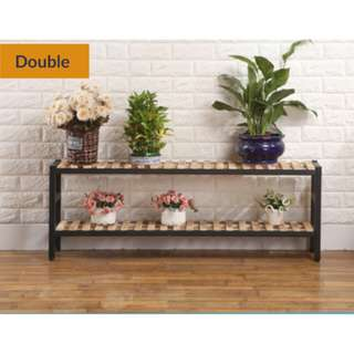 [PROMO] Limited stock - Double level Plant rack wood/metal frame!