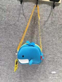 可愛小鯨魚款兒童斜孭袋