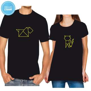 Geometric Series - Family sibling Set Tshirt with Gold Print