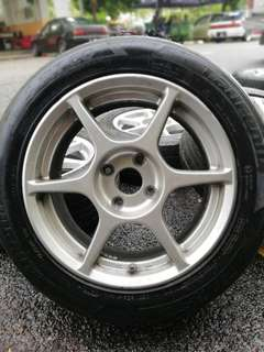 P1 buddy club 15 inch sports rim bezza tyre 70%. Masak cendawan dalam cawan, rim cun cun memang hati tertawan!!!