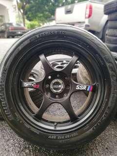 Ssr type c-rs 15 inch sports rim saga flx tyre 70%. Lepak pavilion hisap marlboro, masuk kereta you confirm cun bro!!!