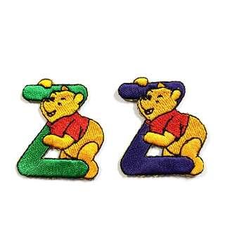 "Iron On Patch/ Applique ↪ Alphabet Pooh ""Z"" ↔️ 💱 $2.00 Each Alphabet"
