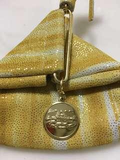 購自羅馬真皮散子包💫 coin purse pouch bag 金色 閃令令