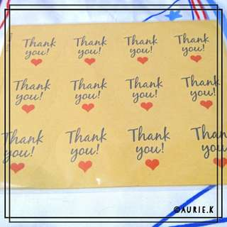 60pcs Thank You Sticker