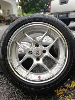 Enkei cps 15 inch sports rim alza tyre 70%. Beli sayur dipasar pudu, selalu usha usha ini ads kasi angkat lah satu!!!
