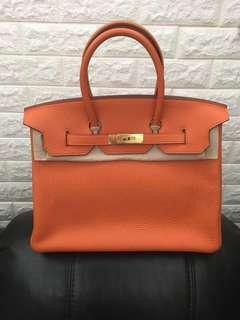 Hermès Birkin 35 Orange Clemence