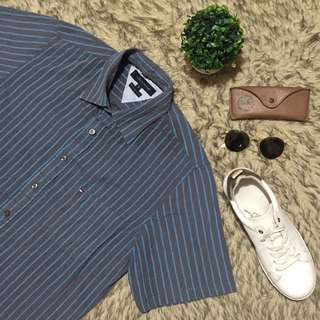 Tommy Stripes Button Down Polo