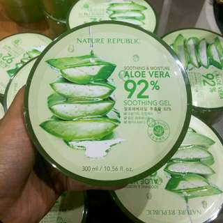 NATURE REPUBLIC| SHOOTING & MOISTURE ALOE VERA 92% SHOOTHING GEL