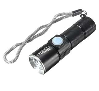 3Modes 600LM Mini Usb Rechargeable LED Flashlight
