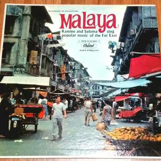 Malaya P.Ramlee And Saloma Sing Popular Music Of The Far East Vinyl Record