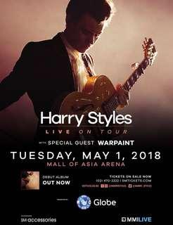 Gen Ad concert ticket for #HarryStylesMnl Harry Styles Manila