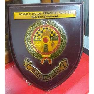 Motor Treasure Hunt plaque