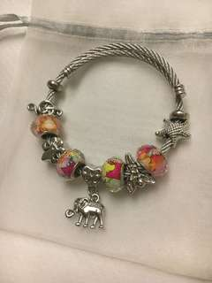 BRAND NEW! Pandora Charriol Inspired Bracelet with Charms