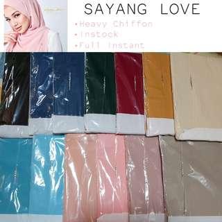☆INSTOCK☆ Sayang Love Naelofar Hijab