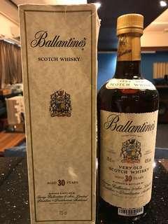 百靈罈 Ballantine whiskey 30yr 每支計 700ml
