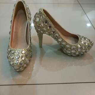 Bling Bling Crystal Wedding Shoes