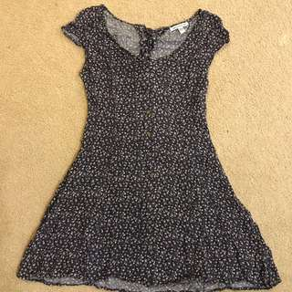 Blue Flower Print Dress (M)