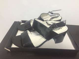 Size 37 mid length Black Heels/Sandals
