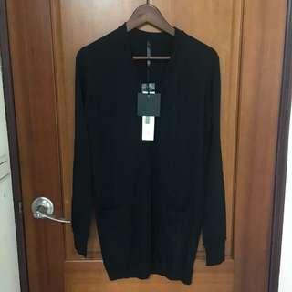 Galoop長版針織外套-黑