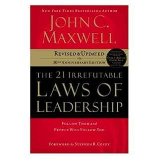 [eBook] The 21 Irrefutable Laws of Leadership - John Maxwell