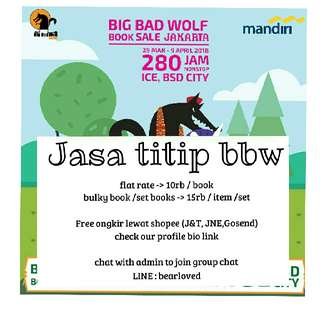 Jasa Titip Big Bad Wolf Book Sale 2018 /jastip bbw