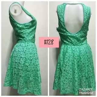 Sexy Back Mint Green Dress