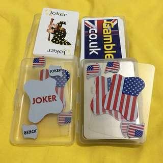 防破塑膠材質撲克牌x2(購買即贈長榮航空全新撲克牌)