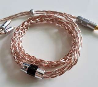 Pure silver and copper alloy iem cable or ciem cable