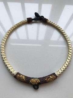 Real snake bone necklace
