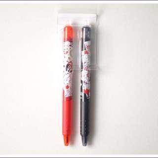 【全新現貨】PILOT百樂 FRIXION魔擦筆、擦擦筆~Disney迪士尼愛麗絲限定組合(紅色、黑色)~/筆記必備。可面交。